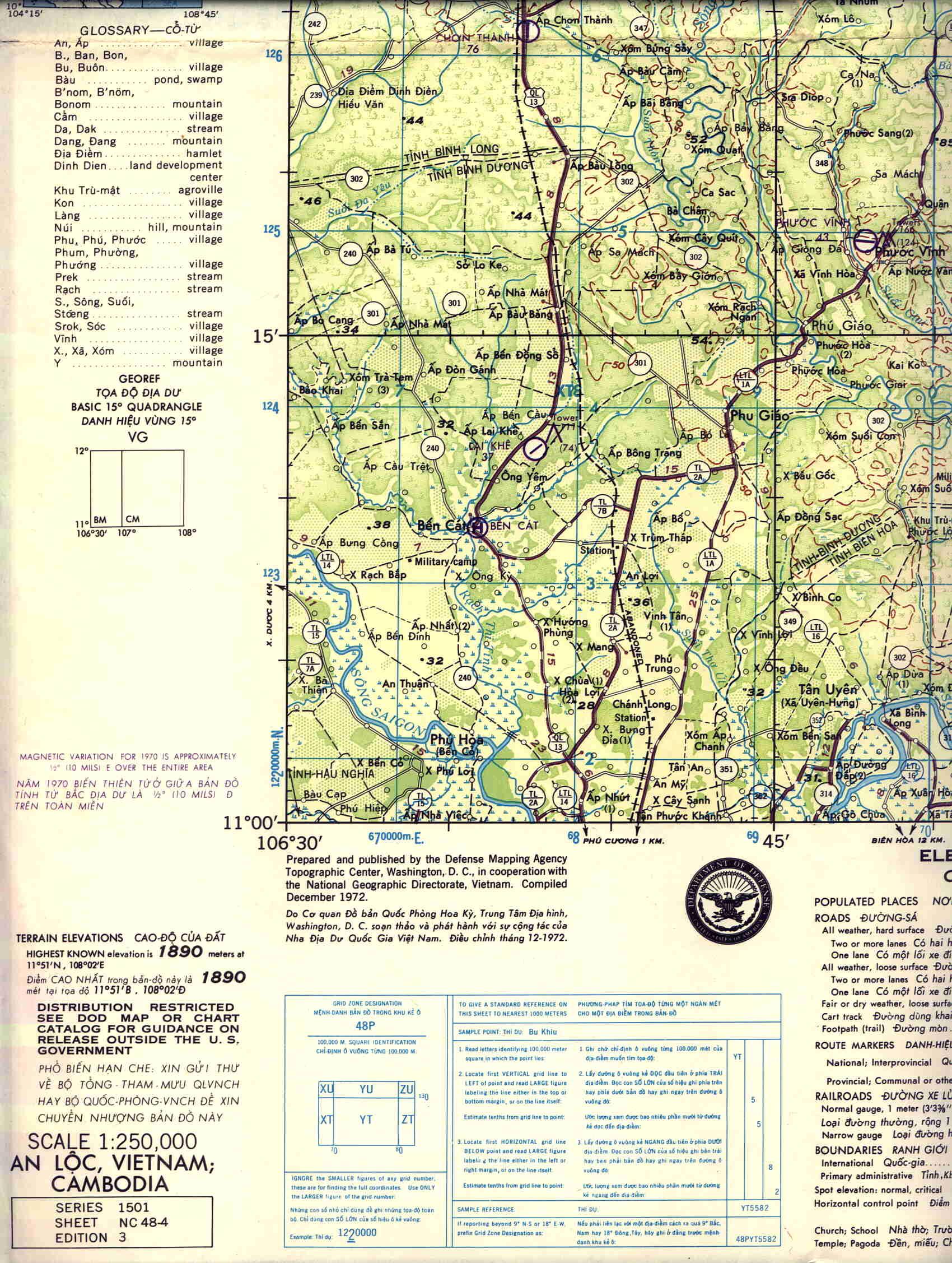 Lai Khe Vietnam Map.The 19th Tass